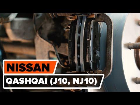 Как заменить задние тормозные колодки на NISSAN QASHQAI (J10, NJ10) [ВИДЕОУРОК AUTODOC]