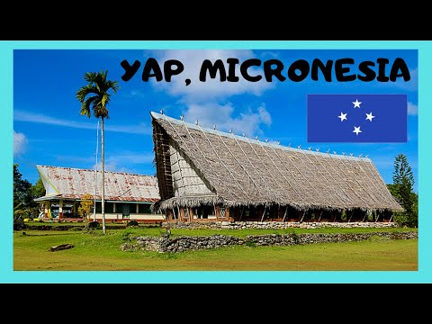 YAP, tour of its beautiful CAPITAL COLONIA (MICRONESIA, PACIFIC OCEAN)