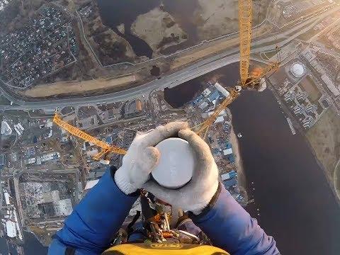 462m - Lakhta Center Top / Монтажники на шпиле Лахта Центра