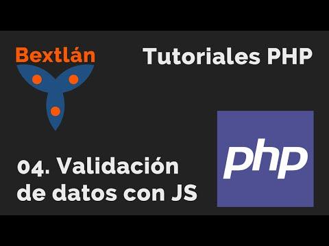 Tutoriales PHP: 4. Validación de datos con JavaScript
