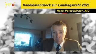 Landtagskandidaten-Kurzcheck: Hans-Peter Hörner, AfD