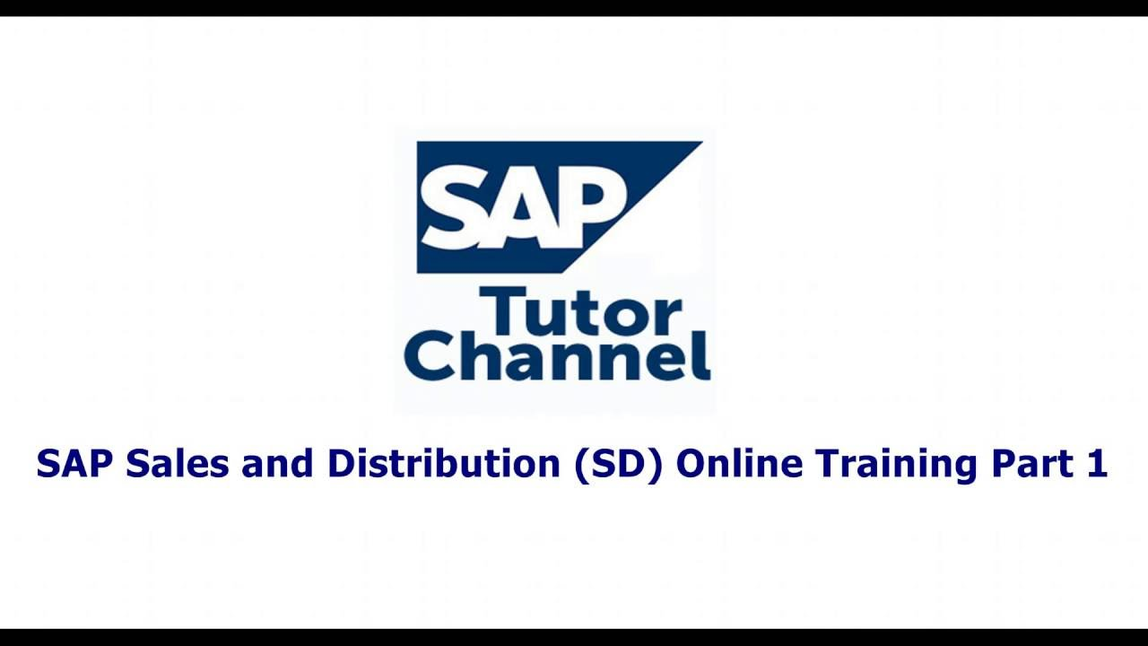 SAP Sales and Distribution SD Online Training Part 1