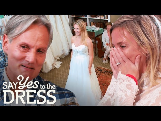 wedding dress cleavage