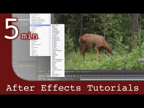 After Effects Tutorial: Working with effects and animation in After Effects Lesson