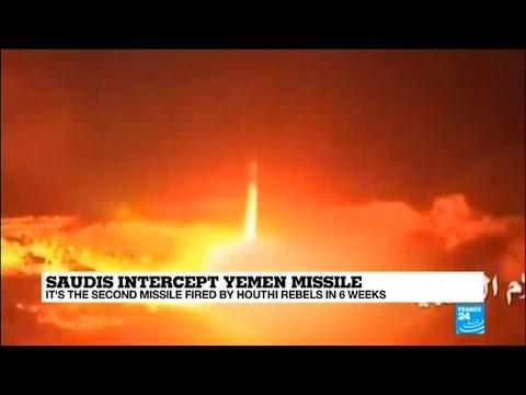 "Saudi Arabia: Army intercepts Houthi missile fired from Yemen, ""aiming at a royal palace in Riyadh"""