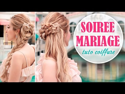 tuto coiffure de soir e mariage chignon cheveux mi longs. Black Bedroom Furniture Sets. Home Design Ideas
