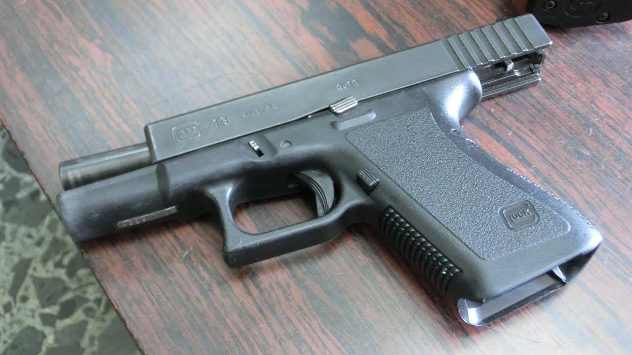 実弾射撃 グロック 19 第2世代 自動式拳銃 glock 19 gen2 pistol youtube
