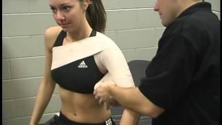 Колосовидная повязка на плечо