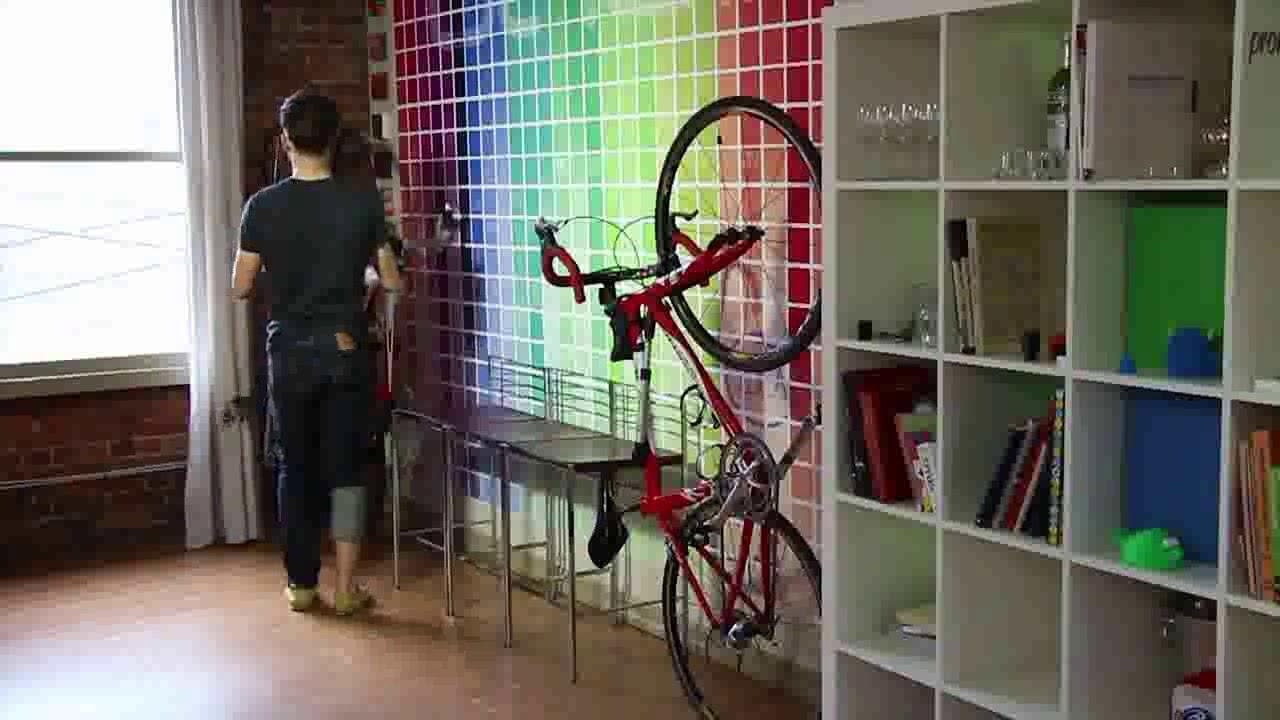 Fixation Pour Velo Garage petit support mural clug road pour ranger son vélo de route