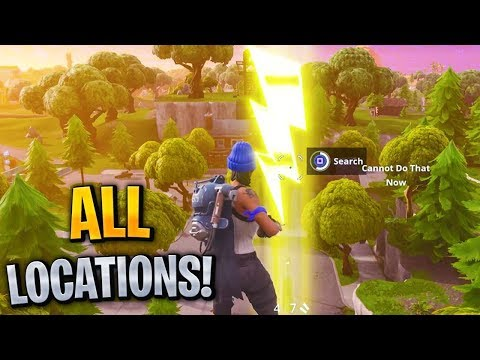 """Search floating Lightning Bolts"" ALL Locations! Fortnite Season 5 Week 1 Challenges!"