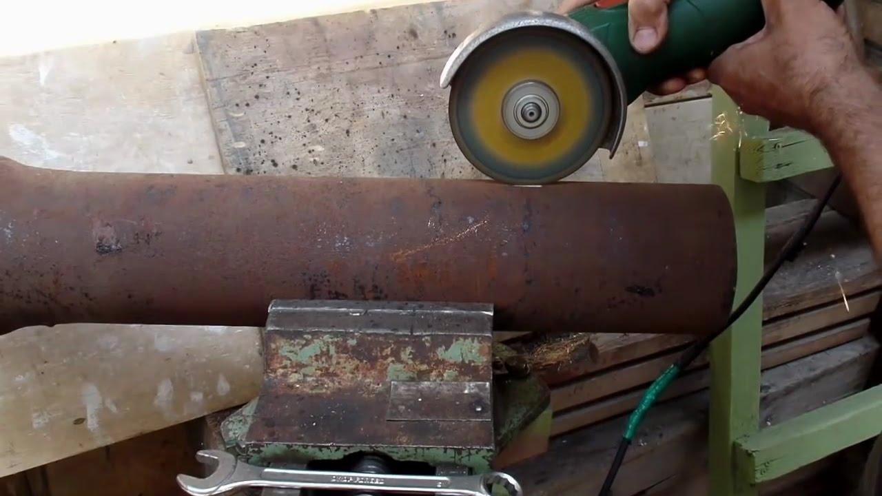 Самодельная печная заслонка в чугунной трубе для дачной буржуйки