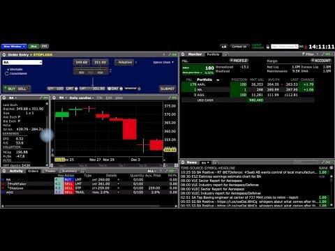 Как настроить торговый терминал TWS от Interactive Brokers?
