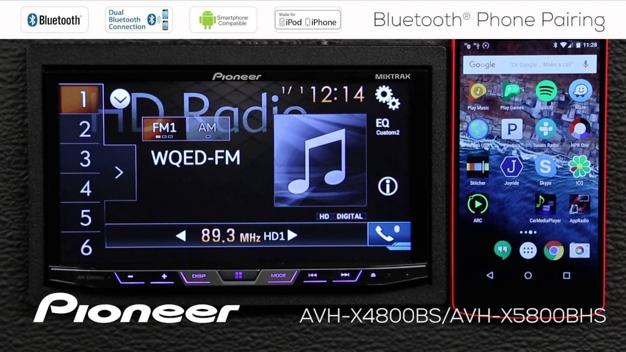 How To Avh X4800bs Bluetooth Phone Pairing Youtube