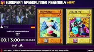 #ESA17 Speedruns - Yu-Gi-Oh! The Sacred Cards [Any%] by Mergy