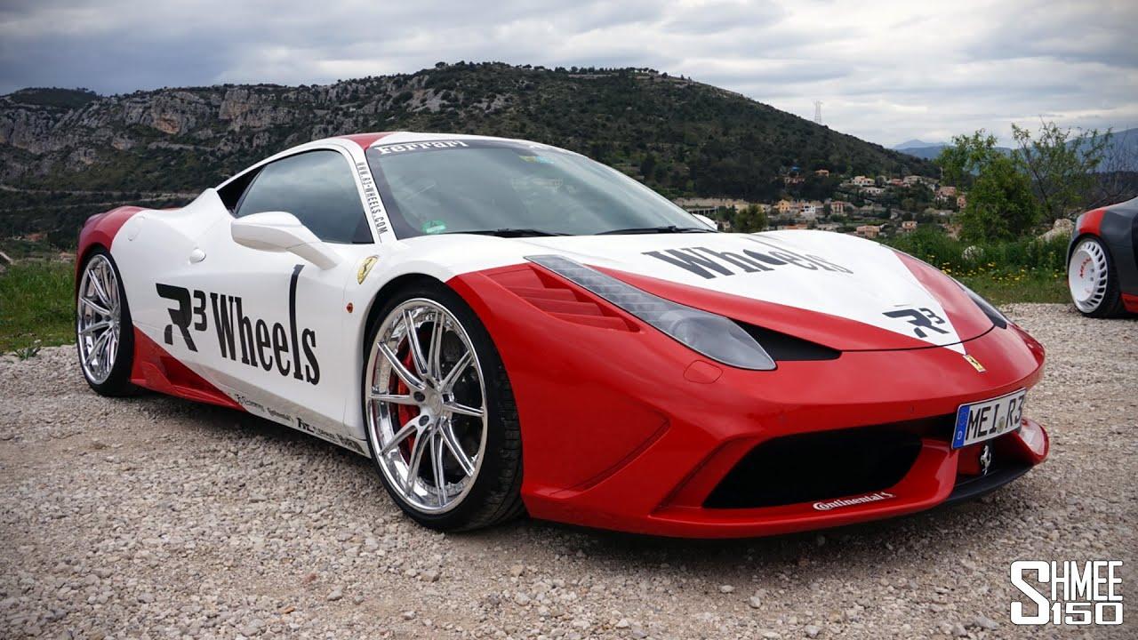 r3 wheels ferrari speciale - test drive w/ fi exhaust - youtube