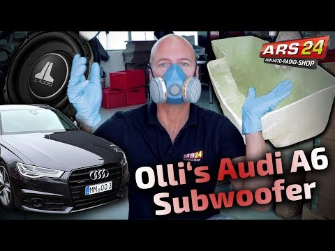 Audi A6 4G   super Subwoofer einbauen   Gehäuse selber bauen   PART 7