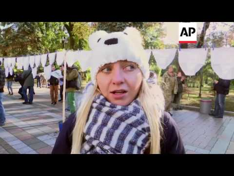 Ukraine - Underwear hung on lines to protest corruption | Editor's Pick | 18 Oct 16