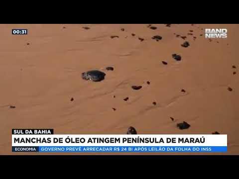 Manchas de óleo atingem península de Maraú