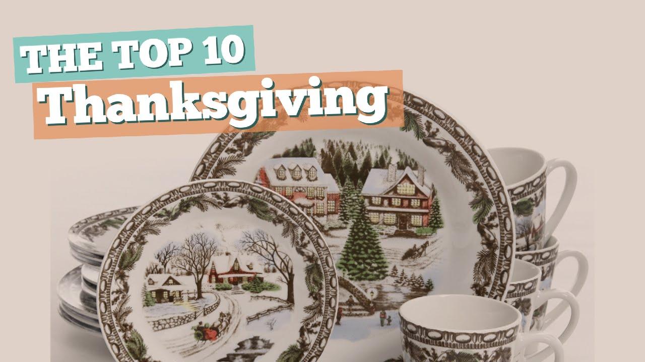 Thanksgiving Dinnerware // The Top 10 Best Sellers 2017 & Thanksgiving Dinnerware // The Top 10 Best Sellers 2017 - YouTube