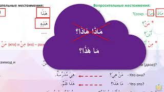 Грамматика арабского 2. Личные местоимения и простые вопросы с ответами.
