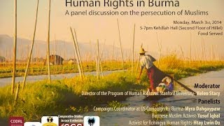 Human Rights in Burma - A Panel Discussion on the Persecution of Muslims