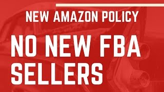 Amazon FBA Blocks New Sellers from using FBA Until 2017