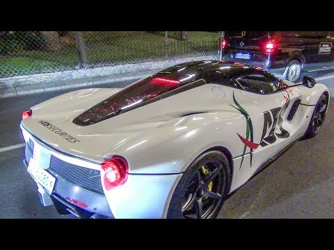 GP F1 Monaco Montecarlo 2017 - Supercars Night Spotting - LaFerrari, Lamborghini and Many More