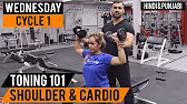 Ladies GYM: Shoulder Toning and Fat Loss Cardio Workout!