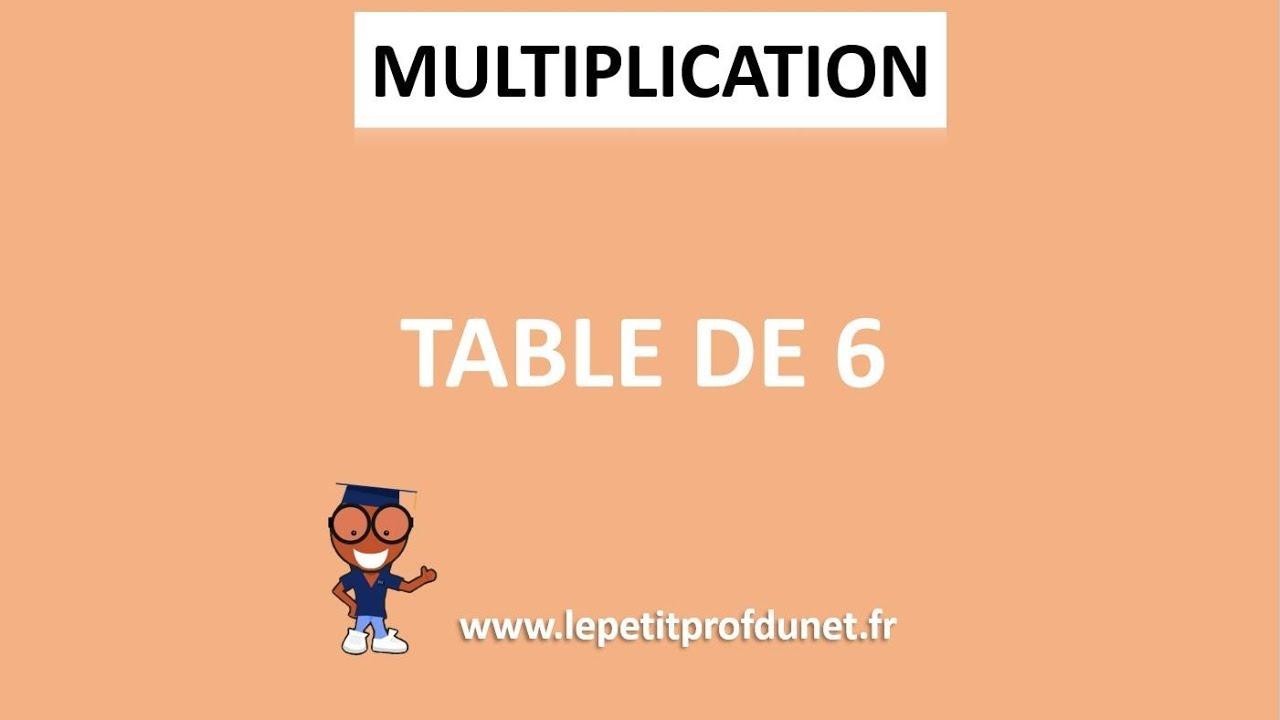 Calcul mental multiplication table de 6 youtube for Multiplication de 6
