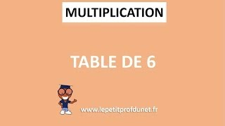 Calcul mental : Multiplication | Table de 6
