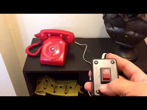1966 Batphone prop replica with wired remote.