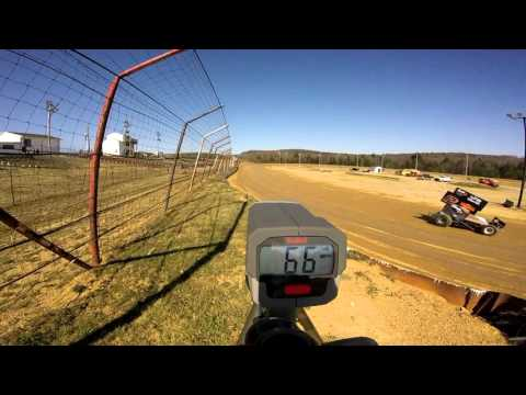 Dog Hollow Speedway - 4/16/16 305 Sprint Car Practice Session #1