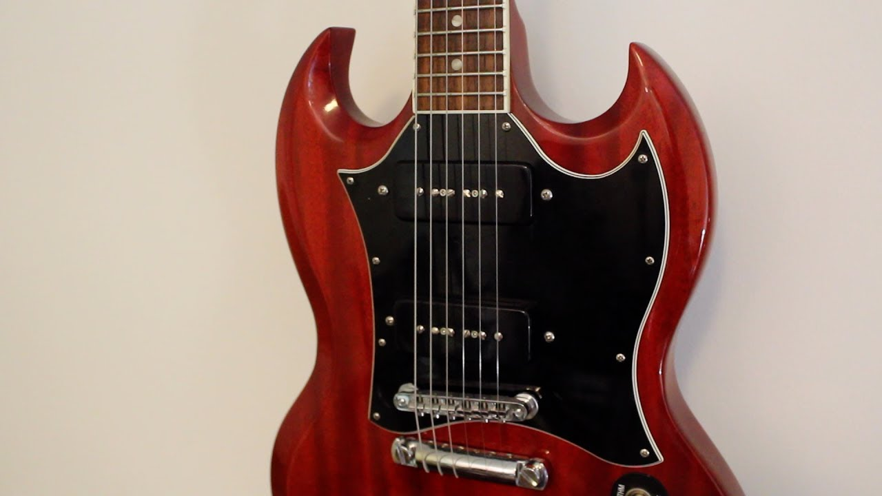Seymour Duncan P90 Stack Pickups Gibson SG Classic - YouTube