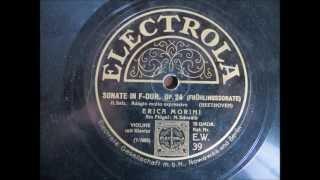 SONATE IN F-DUR OP 24  Beethoven 2. Satz Frühlingssonate Erica Morini Violine