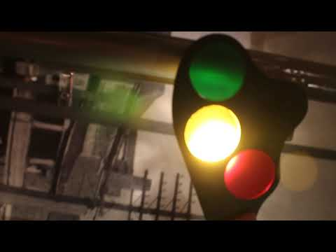 Red, Yellow, and Green Signal Lights At Dennison Depot Railroad Museum
