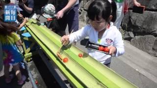 青森県蓬田村のブランドトマトをPRする「トマトマルシェ」が11日、...