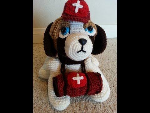 Crochet Saint Bernard Amigurumi Medical Rescue Dog Part 1 ...