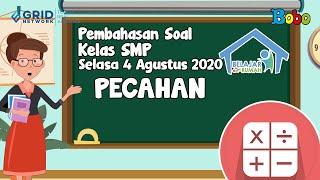 Pembahasan Soal TVRI SMP - Selasa, 4 Agustus 2020 - Pecahan #BelajardariRumah