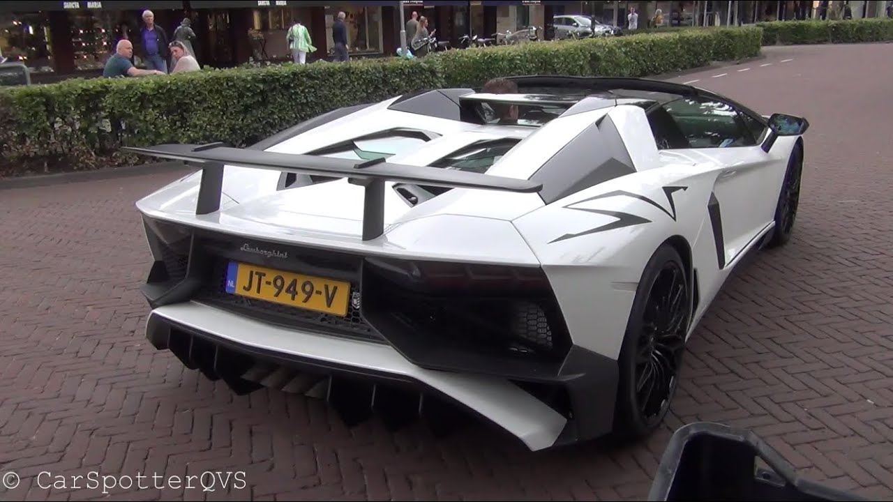 Lamborghini Aventador LP750,4 SV Roadster , Start Up And Revs!