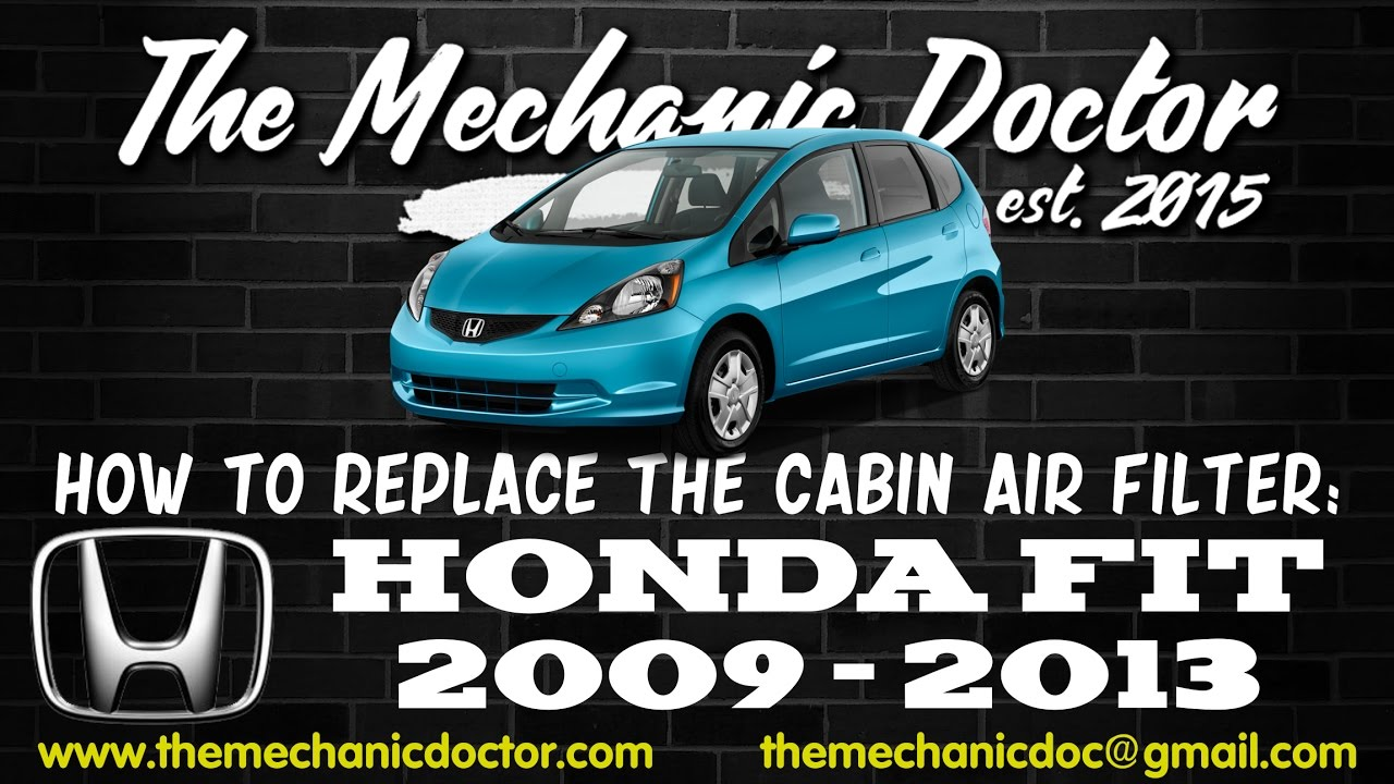 How to replace the cabin air filter honda fit 2009 2010 2011 2012 2013 youtube