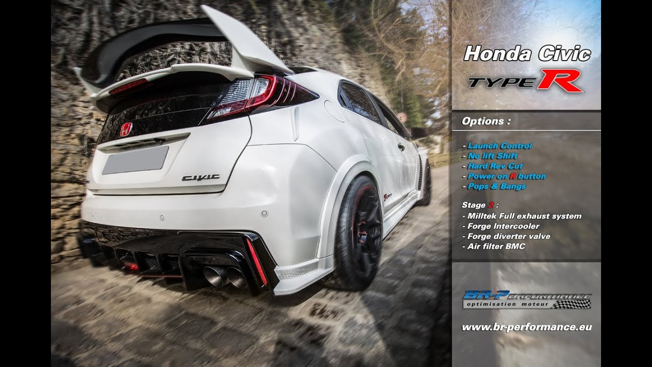 honda civic type r 2 0t stage 2 by br performance youtube. Black Bedroom Furniture Sets. Home Design Ideas