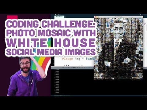 Coding Challenge #49: Photo Mosaic with White House Social M