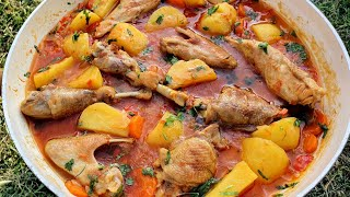 Perfect Chicken Stew Recipe | Chicken Recipes | Toyuq Sousu Resepti | asmr cooking