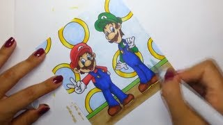 Drawing Mario & Luigi with Copic markers