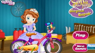 Sofia the First Bicycle Repair Princess Games Online Free Flash Game Videos GAMEPLAY