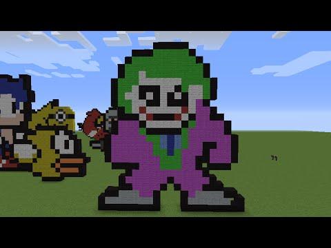 Minecraft Pixel Art Templates The Joker Clip Art Library ...