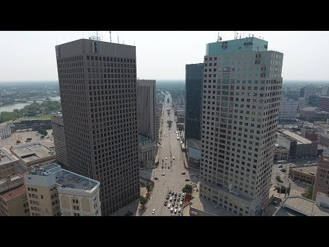 Winnipeg City by Drone on an August Morning