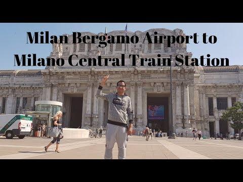 Milan Bergamo Airport To Milano Central Train Station #Europe Trip 2019 EP#17