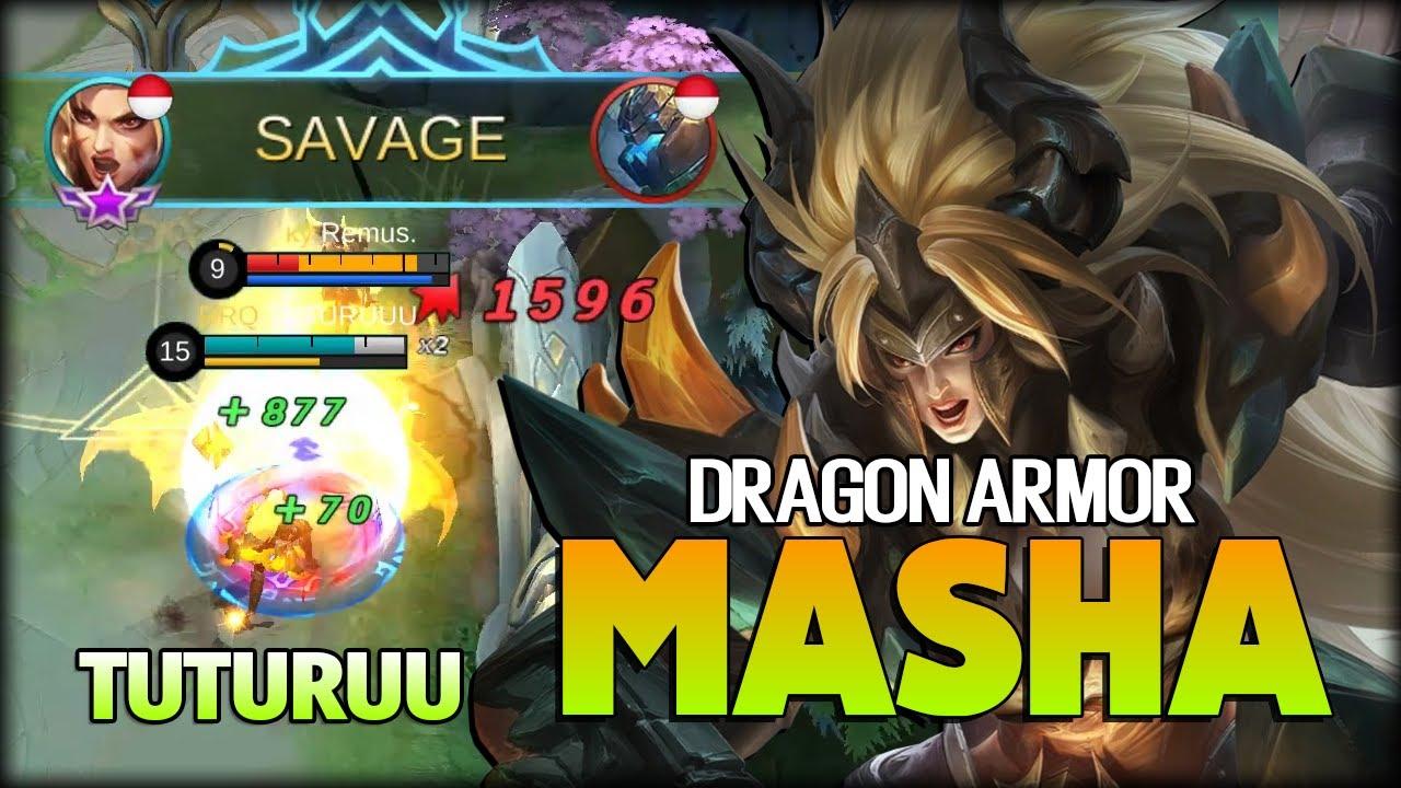 Savage Deadly Attack Speed Dragon Armor Masha Tuturuuu Mobile Legends Youtube Skin for halfpenguin, dragon with blue leather armor!( savage deadly attack speed dragon armor masha tuturuuu mobile legends
