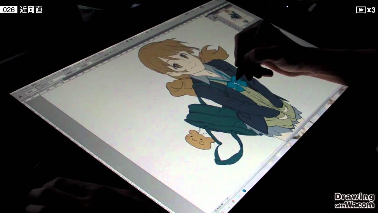 アニメーター 近岡 直 - Drawing with Wacom (DwW) - YouTube